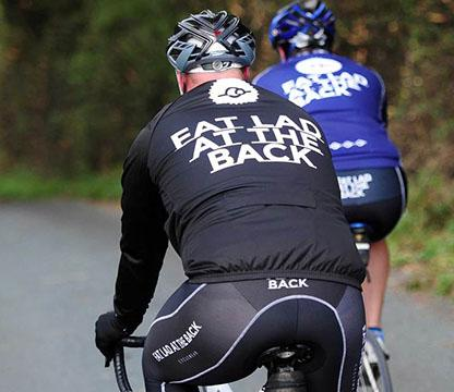 Fat Lad At The Back LADS BLACK JEWEL PREMIUM CYCLING BIB SHORTS